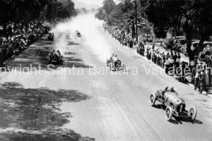Main Straight, Corona Road Race  Barney Oldfield in a Mercer car, 1913, CA - TR08