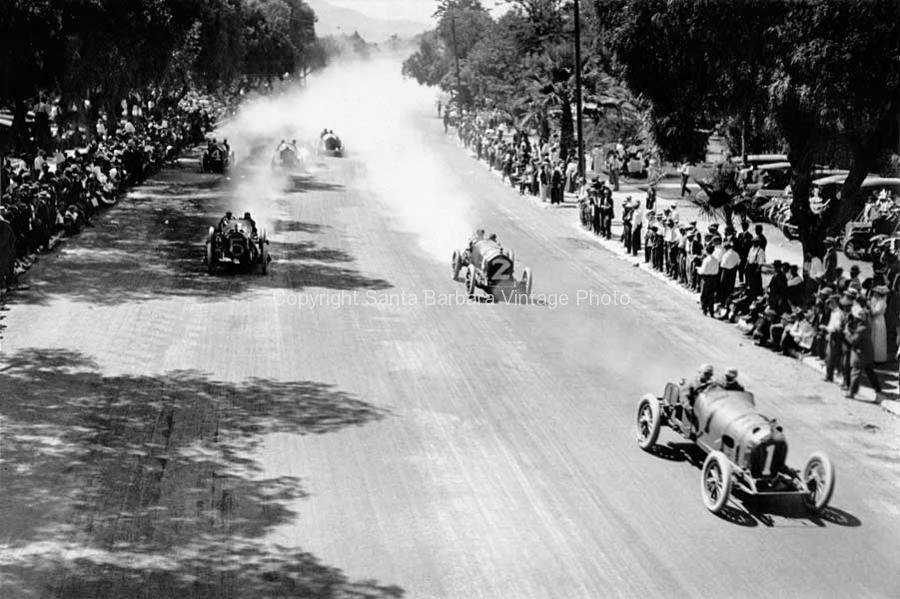 Main Straight, Corona Road Race  Barney Oldfield in a Mercer car, 1913, CA - 17