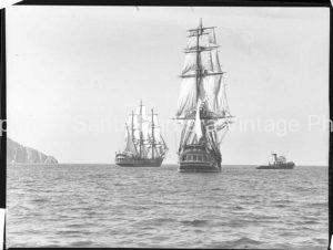 HMS Bounty, Yards Back, Santa Barbara, CA. - BS14