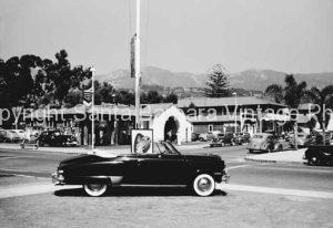!950'S Plymouth convertible, Anacapa and Cannon Perdido, Santa Barbara CA. CA-93