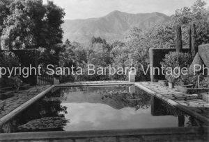 Reflecting Pool, Montecito Garden, CA. - MT33