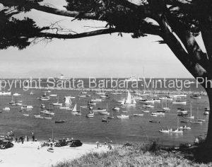 West Beach Harbor 1930's Santa Barbara CA. - SB54