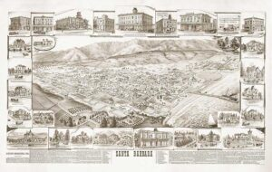 Map of Santa Barbara, 1880's - SBA6