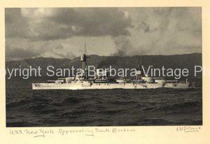 USS New York approaching Santa Barbara CA, Coast - BS05