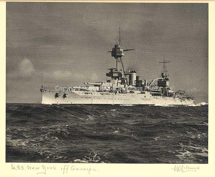 USS New York off Anacapa Island,   SantaBarbara CA, Coast - BS06