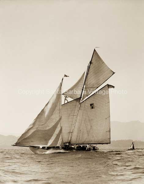 Schooner off the Santa Barbara Coast CA. - BS07