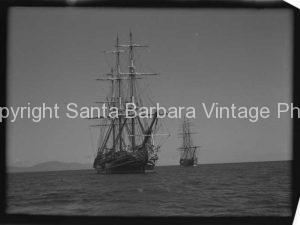 Tall Sailing Rrendezvousing Santa Barbara CA. - BS11
