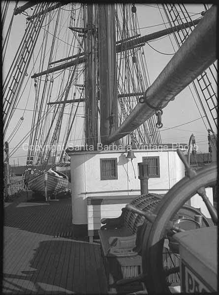Top Deck, HMS Bounty, Santa Barbara, CA. - BS15