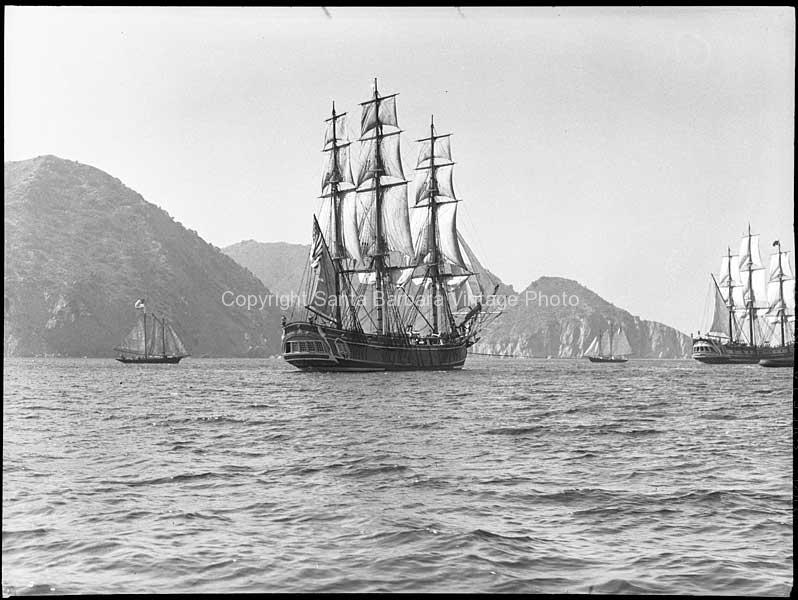 HMS Bounty Off Santa Cruz Island Santa Barbara, CA. - BS18