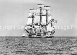 HMS Bounty Full sail, Santa Barbara,CA. - BS21