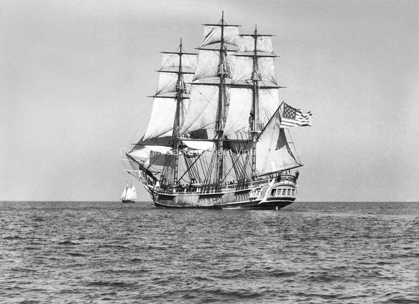 HMS Bounty Full sail, Santa Barbara,CA. - BS21