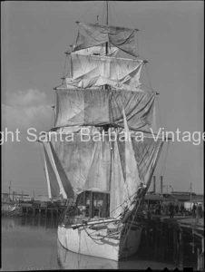 Brig sailing Ship, San Pedro, CA. - BS24
