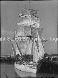 Brig Sailing Ship, San Pedro, CA. - BS25