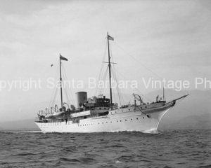 Lady Yule's Yacht, circa 1930 Santa Barbara, CA. - BS30