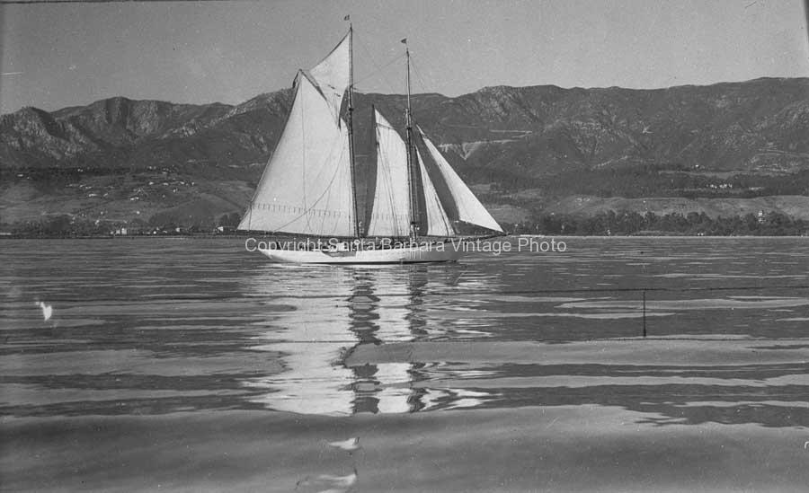 1920's Schooner of the Santa Barbar Coast, - BS31