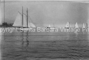 Racing Off The Santa Barbara Coast, CA. - BS32
