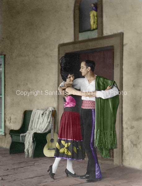 Bailar, 1930's Fiesta Santa Barbara, CA. - FS01