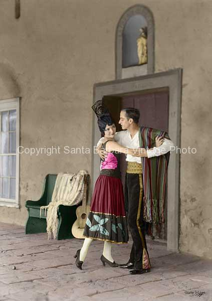 Bailar, 1930's Fiesta Santa Barbara, CA. - FS02