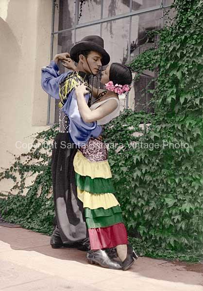 Baisa me , 1930's, Fiesta Santa Barbara, CA. - FS03