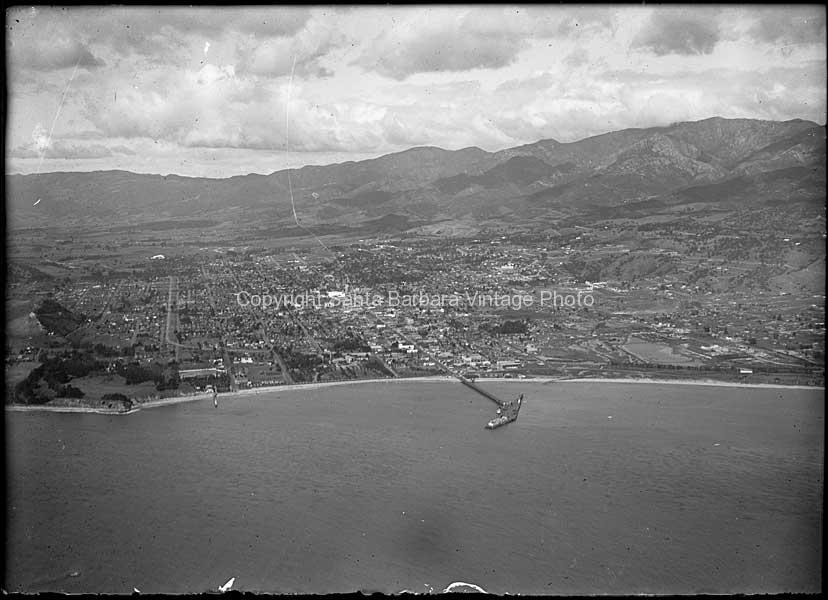 Airel View Santa Barbara, CA. 1930's - SB14