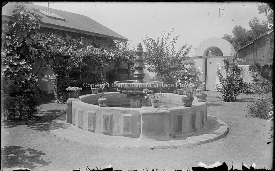 Carrillo-Covarrubias Adobe Courtyard Fountain - SB61