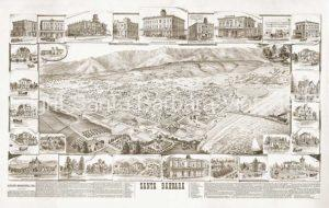 Map of Santa Barbara, 1880's - SBA6