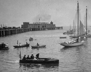 Sailing in Santa Barbara, 1920's - SBAB