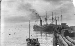 Sterns Wharf circa 1900 - BS09