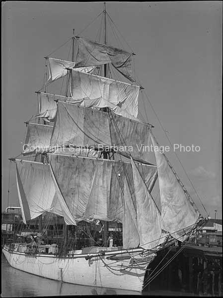 Brig Sailing Ship, San Pedro, CA. BS23